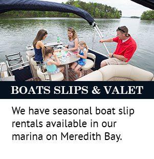 boat slips & valet